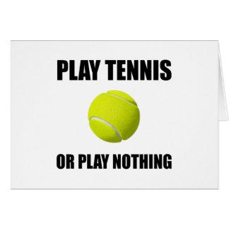Cartão Tênis ou nada do jogo