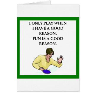 Cartão tênis ttable