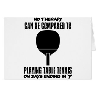 Cartão Tensão e design impressionante do ténis de mesa
