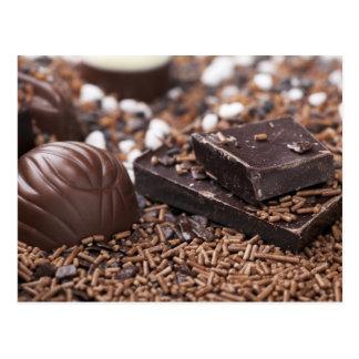 Cartão tentador do chocolate