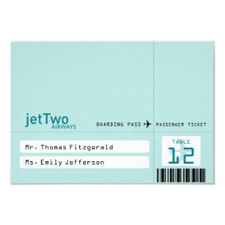 Cartão Tented do assento do bilhete de avião