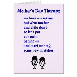 Cartão Terapia do dia das mães - um poema engraçado do