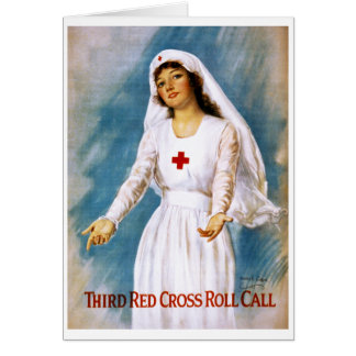 Cartão Terceira chamada da cruz vermelha, 1918