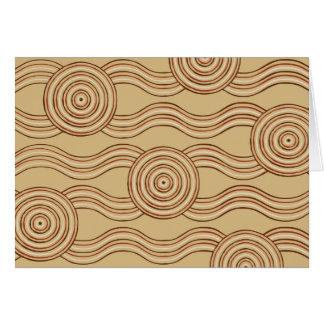 Cartão Terra aborígene da arte