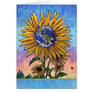 Cartão Terra do girassol
