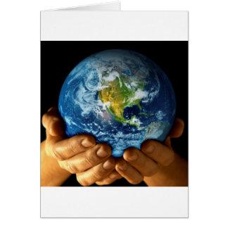 Cartão Terra do planeta