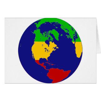 Cartão Terra do planeta de Rasta