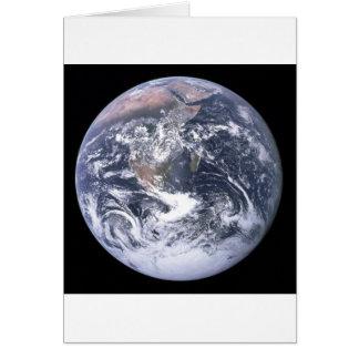 Cartão Terra do planeta - nosso mundo