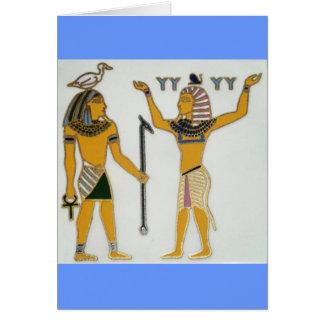 Cartão Terra e ar Geb e Shu Egyption