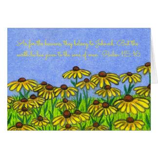 Cartão Terra Given~Sons Susans Eyed Men~Scripture~Black