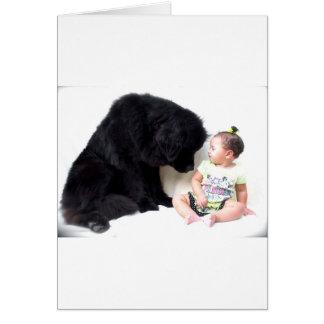 Cartão Terra Nova e criança