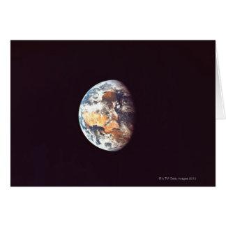 Cartão Terra vista do espaço