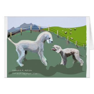 Cartão Terrier de Bedlington - encontrando seu herói