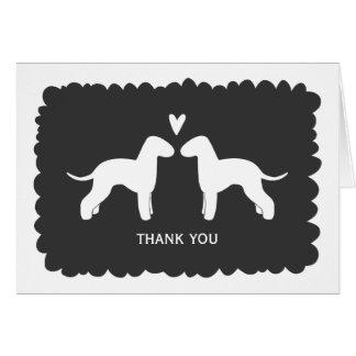 Cartão Terrier de Bedlington que Wedding o obrigado você