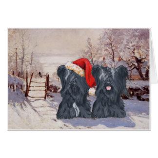 Cartão Terrier de Skye do inverno