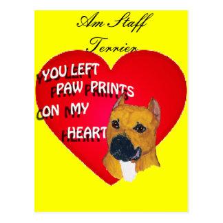 Cartão - terrier de Staffordshire americano