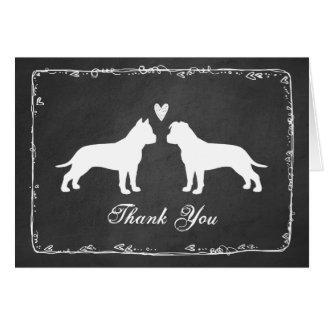 Cartão Terrier de Staffordshire americano que Wedding o
