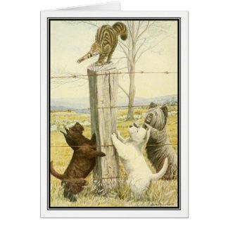 Cartão Terrier impertinentes por Louis Agassiz Fuertes