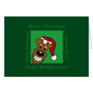 Cartão Terrier irlandesa Weihnacht