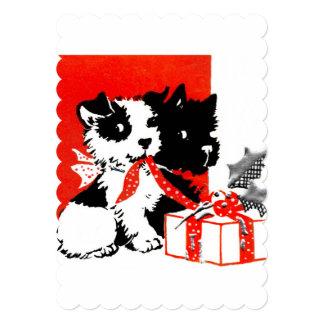 Cartão Terrier retro e cães de Scotty