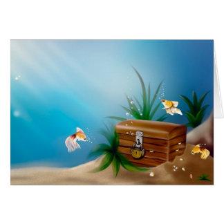 Cartão Tesouros subaquáticos