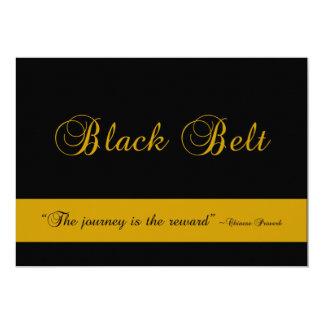 Cartão Teste da promoção da viagem do cinturão negro das