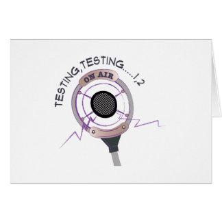 Cartão Teste do teste