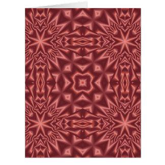 Cartão Teste padrão abstrato do vermelho