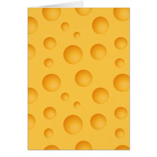 Cartão Teste padrão amarelo do queijo