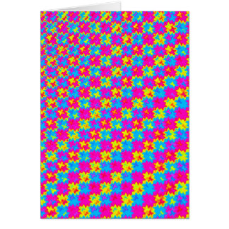 Cartão Teste padrão amarelo e cor-de-rosa louco