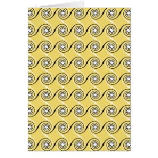 Cartão Teste padrão amarelo, preto e branco dos