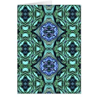 Cartão Teste padrão artístico do Lilac Funky da cerceta