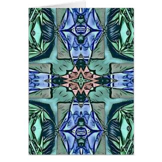 Cartão Teste padrão artístico do pêssego moderno do Lilac