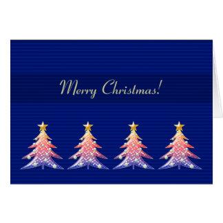 Cartão Teste padrão bonito das árvores de Natal do Feliz