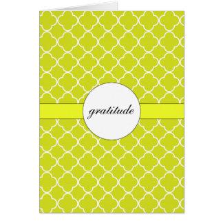 Cartão Teste padrão Chartreuse customizável de Quatrefoil
