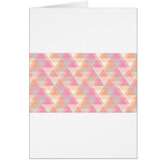Cartão Teste padrão cor-de-rosa