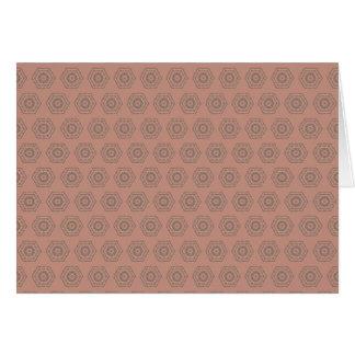 Cartão Teste padrão cor-de-rosa do polígono