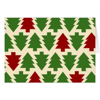 Cartão Teste padrão da árvore de Natal