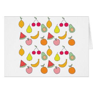Cartão teste padrão da fruta