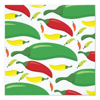 Cartão Teste padrão da pimenta de pimentão