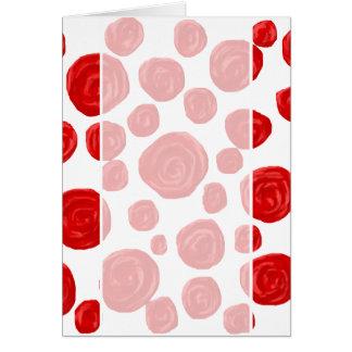 Cartão Teste padrão da rosa vermelha