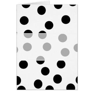 Cartão Teste padrão Dalmatian preto e branco do ponto