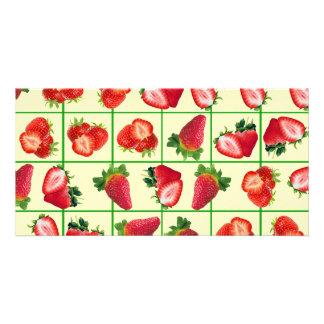 Cartão Teste padrão das morangos