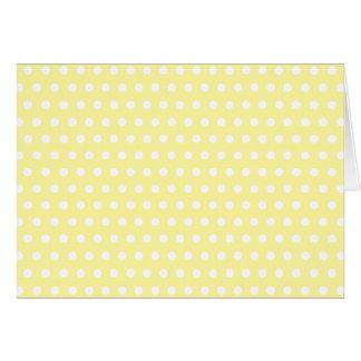 Cartão Teste padrão de bolinhas amarelo. Manchado
