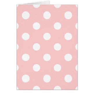 Cartão Teste padrão de bolinhas cor-de-rosa e branco