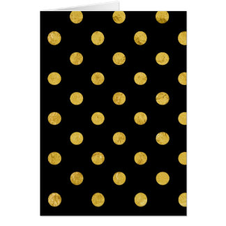 Cartão Teste padrão de bolinhas elegante da folha do