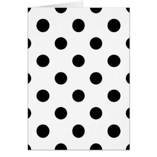 Cartão Teste padrão de bolinhas preto e branco