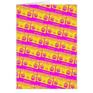 Cartão Teste padrão de Boombox