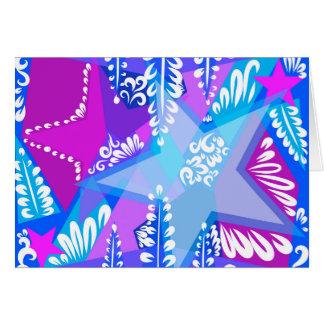 Cartão Teste padrão de estrelas crescente