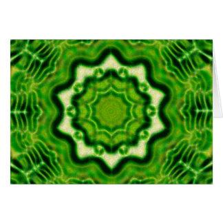 Cartão Teste padrão DE MADEIRA do kaleido do elemento